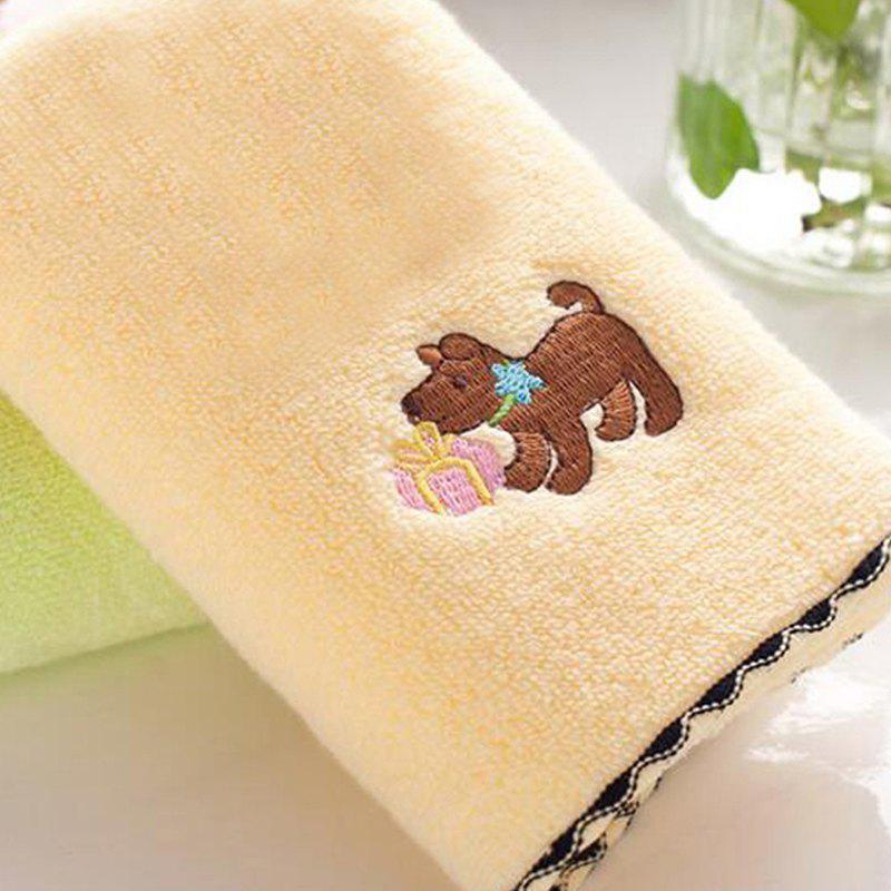 Discount 2 Pcs Face Towels Lovely Cartoon Dog Pattern Soft Towel