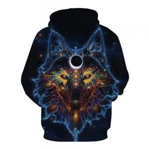 Hoodies lâches Fashion Wolf -