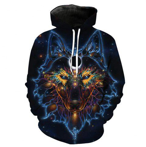 Online Fashion Wolf Loose Hoodies