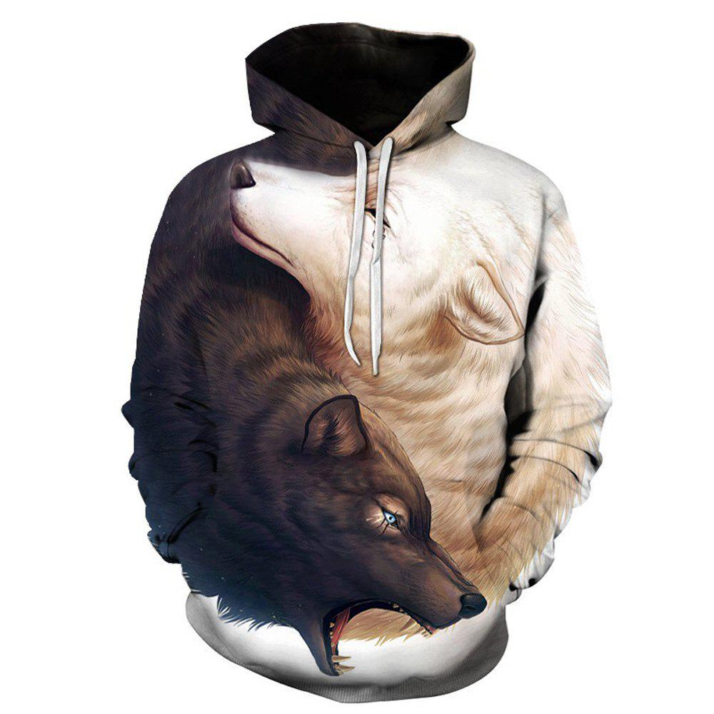 Outfits Fashion Wolf Loose Hoodies