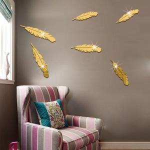 Plastic The Background Mirror Wall Stickers -