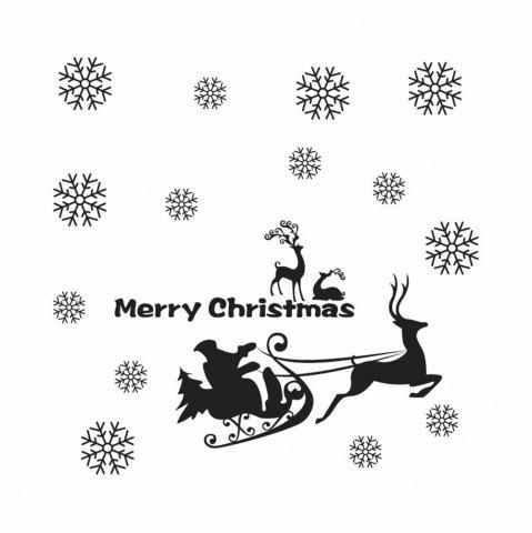 Unique Christmas Window Decoration Wall Stickers