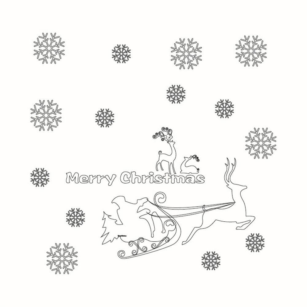 Fashion Christmas Window Decoration Wall Stickers