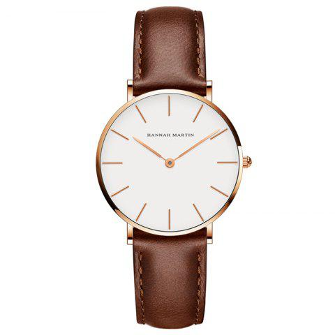 Discount Hannah Martin CB36 Waterproof Business Casual  Band with Ultra-Thin Quartz Watch