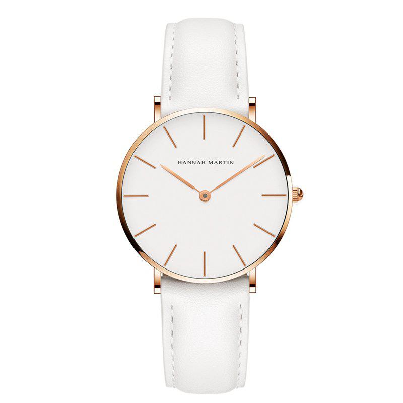 Online Hannah Martin CB36 Waterproof Business Casual  Band with Ultra-Thin Quartz Watch
