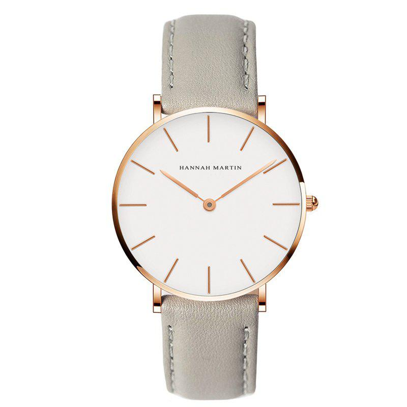 Affordable Hannah Martin CB36 Waterproof Business Casual  Band with Ultra-Thin Quartz Watch