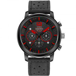 Hannah Martin Men New Sports and Leisure Fashion Breathable Strap Quartz Watch -