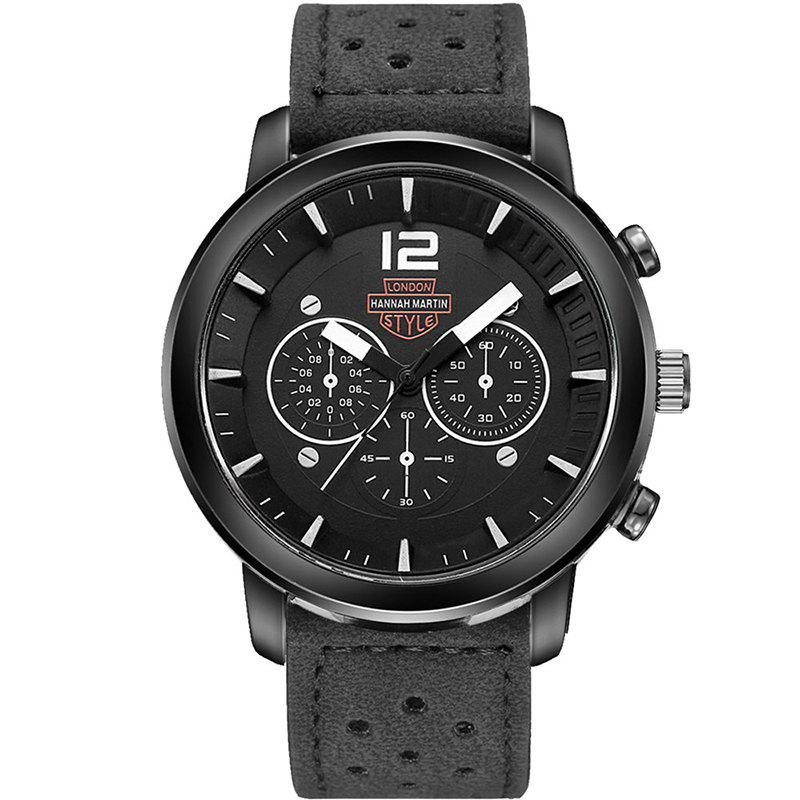 Latest Hannah Martin Men New Sports and Leisure Fashion Breathable Strap Quartz Watch
