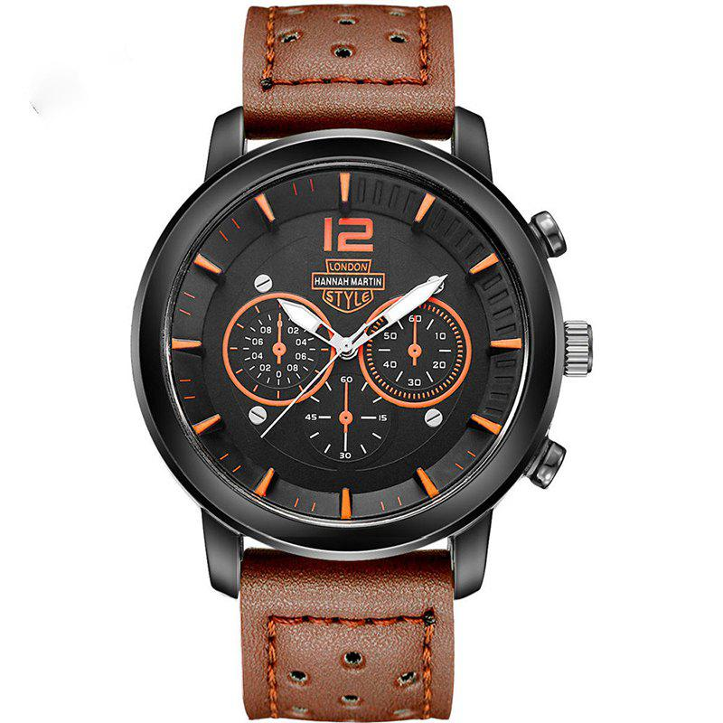 Buy Hannah Martin Men New Sports and Leisure Fashion Breathable Strap Quartz Watch
