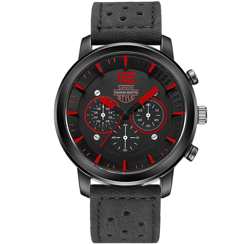 Hot Hannah Martin Men New Sports and Leisure Fashion Breathable Strap Quartz Watch