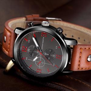 Hannah Martin 2012 Men Business Sports Fashion Casual Fashion Quartz Watch -