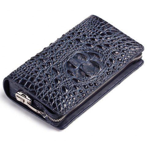 Latest Genuine Leather Clutch Bag For Men Zipper Design Male  Brand Design Men's Phone Holder  RFID Blocking