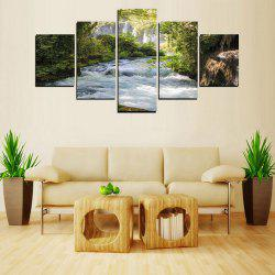 MailingArt FIV240 5 Panels Landscape Wall Art Painting Home Decor Canvas Print -