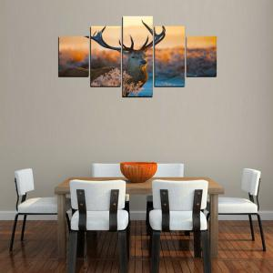 MailingArt FIV241 5 Panels Landscape Wall Art Painting Home Decor Canvas Print -