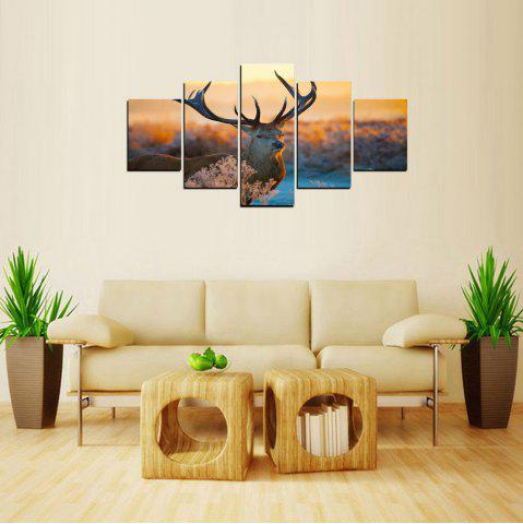 Online MailingArt FIV241 5 Panels Landscape Wall Art Painting Home Decor Canvas Print