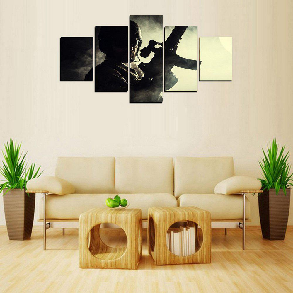 Online MailingArt FIV243  5 Panels Landscape Wall Art Painting Home Decor Canvas Print