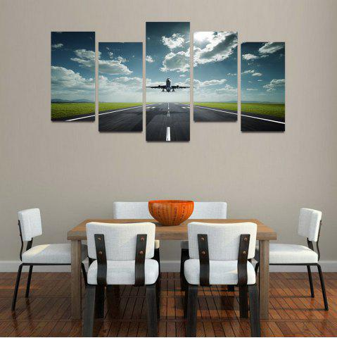 Latest MailingArt F041 5 Panels Landscape Wall Art Painting Home Decor Canvas Print