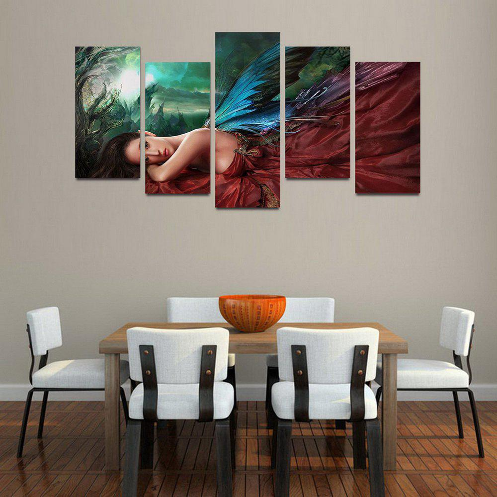 Sale MailingArt F045 5 Panels Landscape Wall Art Painting Home Decor Canvas Print