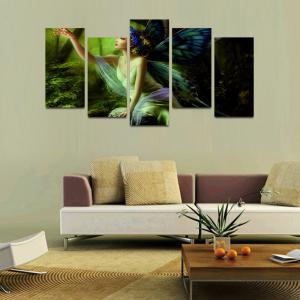 MailingArt F047 5 Panels Landscape Wall Art Painting Home Decor Canvas Print -