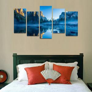 MailingArt F053 5 Panels Landscape Wall Art Painting Home Decor Canvas Print -