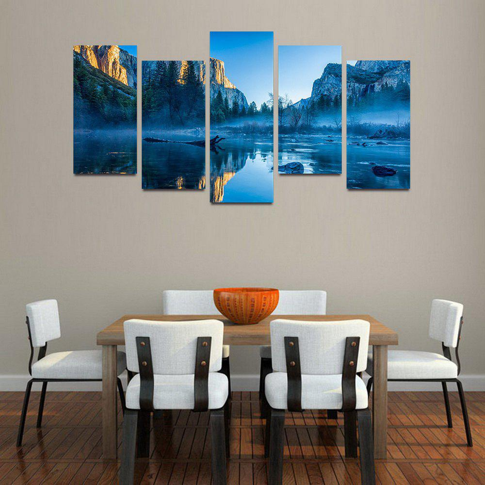 Fashion MailingArt F053 5 Panels Landscape Wall Art Painting Home Decor Canvas Print