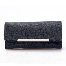 2099 Iron Edge Litchi Grain Wallet -