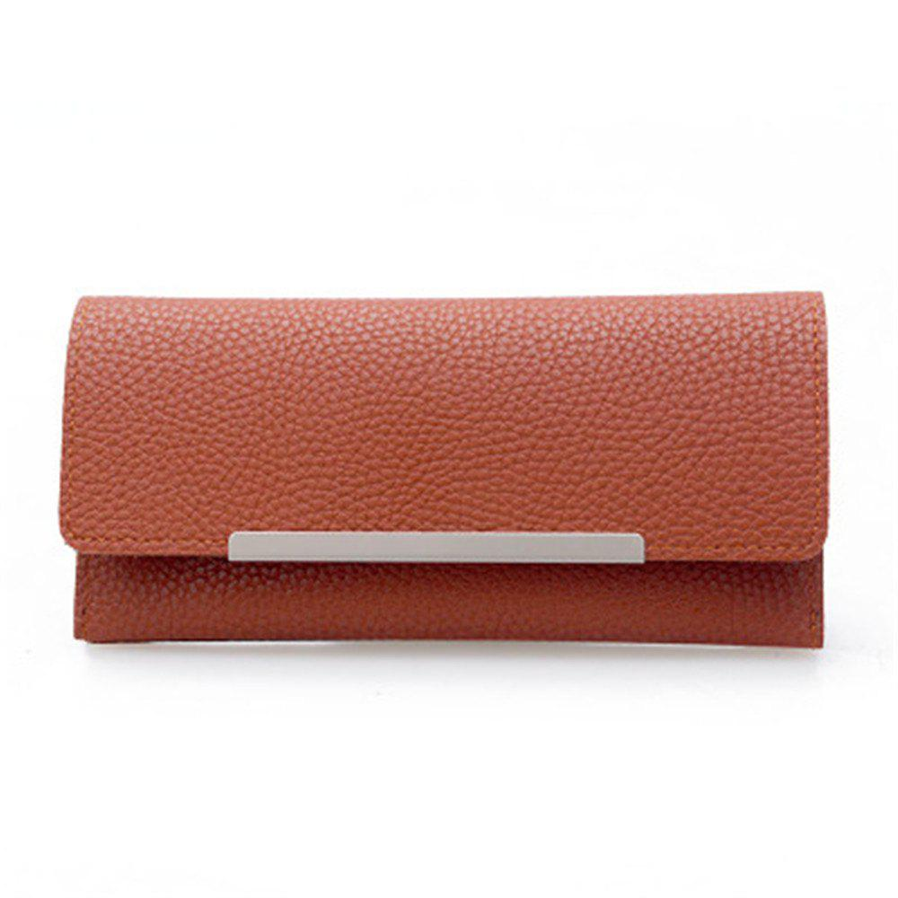 Fancy 2099 Iron Edge Litchi Grain Wallet