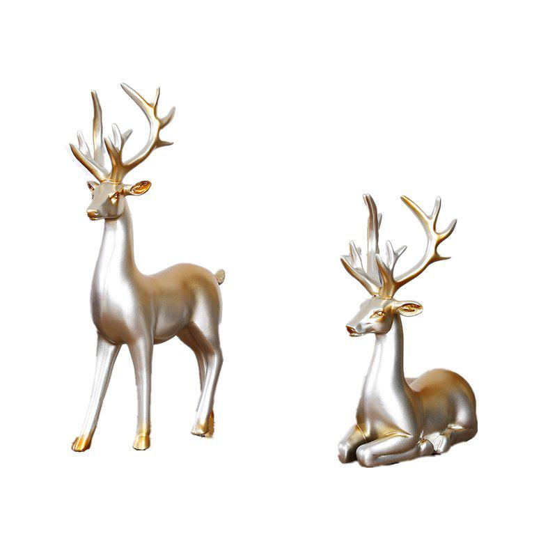 Fancy Novel Creative Resin Home Decorative Couples Against Deer