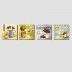 QiaoJiaHuaYuan No Frame Canvas Living Room Sofa Background Four Sets of Landscape Painting Idyllic Landscape Painting -