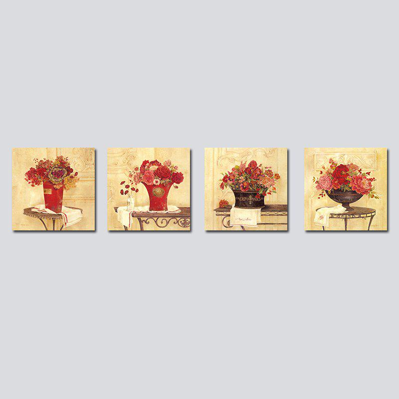 Store QiaoJiaHuaYuan Frameless Canvas Sitting Room Sofa Potted Flower Adornment 4PCS