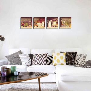QiaoJiaHuaYuan No Frame Canvas Living Room Sofa Background Декоративная картина 4PCS -