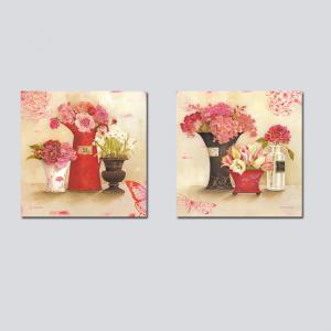 QiaoJiaHuanHuan No Frame Canvas Plant Flower Living Room Sofa Bedroom Decoration 2PCS -