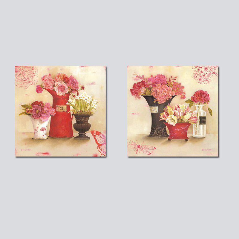 Best QiaoJiaHuanHuan No Frame Canvas Plant Flower Living Room Sofa Bedroom Decoration 2PCS