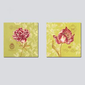 QiaoJiaHuaYuan No Frame Canvas Abstract Flowers Modern Living Room Bedroom Decoration -