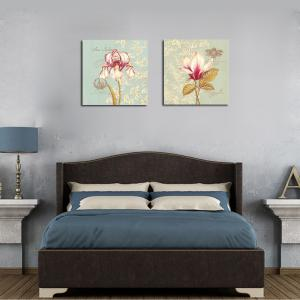 QiaoJiaHuaYuan No Frame Canvas Living Room Bedroom Background Simple Flower Decoration -