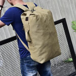 Large Capacity Travel Man Backpack Outdoor Sports Bag Canvas -