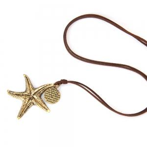 Fashionable Personality Sea Star Sweater Chain Long Necklace -