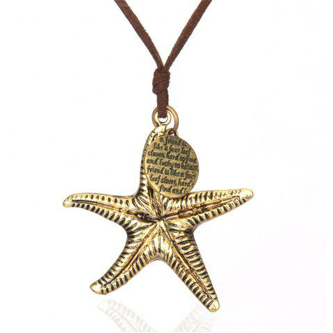 Affordable Fashionable Personality Sea Star Sweater Chain Long Necklace