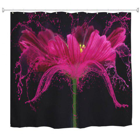 Affordable Flower Splash Polyester Shower Curtain Bathroom  High Definition 3D Printing Water-Proof