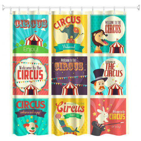 Cheap Circus Collection Polyester Shower Curtain Bathroom  High Definition 3D Printing Water-Proof