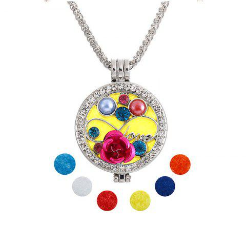 Bijoux Cadeau Lotus Perles Main Cristal Encart Double Photo Shim Fragrance Boîte Pandent Collier