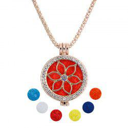 Bijoux Cadeau Lotus Perles Main Cristal Encart Double Photo Shim Fragrance Boîte Pandent Collier -