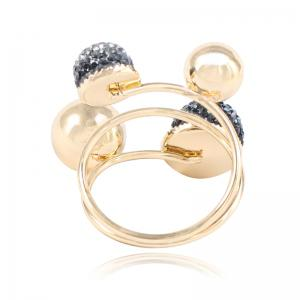 New Fashion Temperament Small Gold Beans Brass Ring -