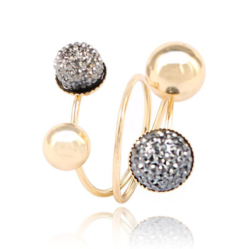 Outfits New Fashion Temperament Small Gold Beans Brass Ring
