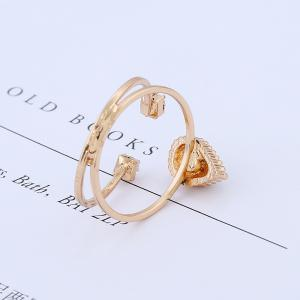 Simple National Wind Protection Gold Combination Ring -