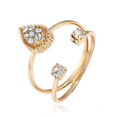 Chic Simple National Wind Protection Gold Combination Ring