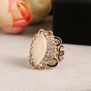 Black Color Gold Opal Opening Can Adjust The Ring -