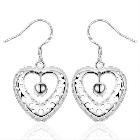 Chic Fashion Hollow Out Heart Shape Drop Earrings Charm Jewelry Gift For Women