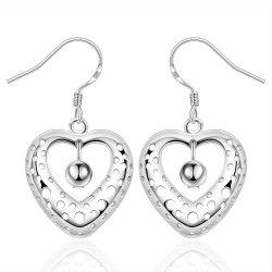 Fashion Hollow Out Heart Shape Drop Earrings Charm Jewelry Gift For Women -
