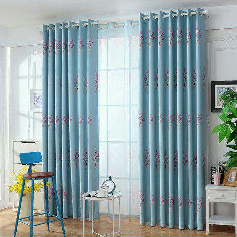 Unique Home Garden Small Fresh Printed Curtains